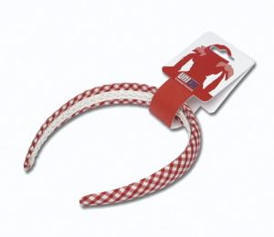 Gingham Hairband - Red