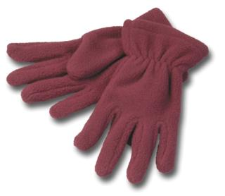 Fleece Gloves - Red