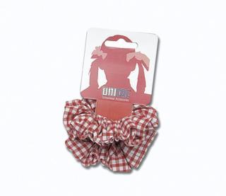 Gingham Scrunchie - Red