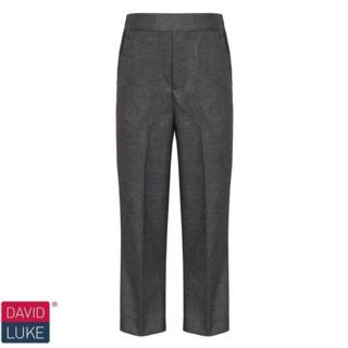 Grey Slim Fit Pull on Trousers