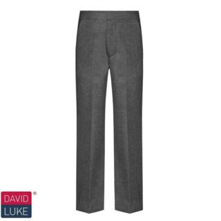 Grey and Black Slim Fit Trousers