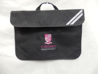 St Michael's Black Book Bag
